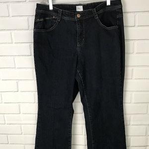 Just My Size womens jeans dark wash flare size 18W